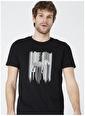Limon Company Limon Anima Siyah Bisiklet Yaka Zebra Baskıl Erkek T-Shirt Siyah
